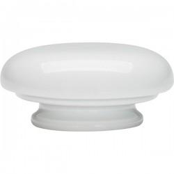 Крышка д/чайника «Карат»; фарфор; 350мл; D=65мм; белый