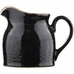 Молочник «Крафт лакрица»; фарфор; 185мл; черный