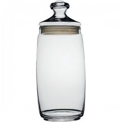 Банка с крышкой «Чешни»; стекло, резина; 1, 5л; D=94, H=200мм; прозр.