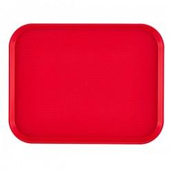 Поднос для Фаст Фуд; пластик; H=2, L=45, B=35см; красный
