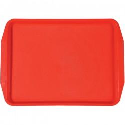 Поднос для Фаст фуд; пластик; H=25, L=450, B=320мм; красный