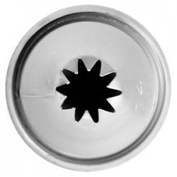 Насадка «10-конечная звезда»; нержавеющая сталь, D=22/10, H=35мм;
