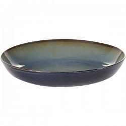 Блюдо глубокое; керамика; D=235, H=45мм; серый, синий