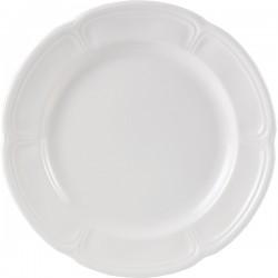 Блюдо «Торино вайт»; фарфор; D=32, H=3см; белый
