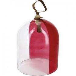Баранчик «Револ Тач»; стекло; D=18, H=21см; прозр., красный