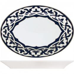 Блюдо овальное «Восток»;  H=35, L=370, B=260мм; синий