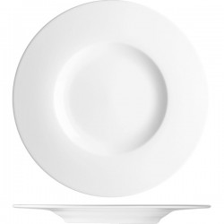 Блюдо «С-Класс»; фарфор; D=33, H=3см; белый