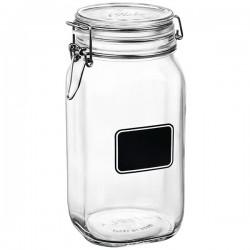 Банка для сыпучих продуктов «Лавана»; стекло; 1, 665л; D=10, 6, H=22см; прозр., черный