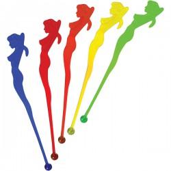Мешалка «Афродита»[100шт]; полистирол; L=15см; разноцветн.