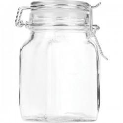 Банка для сыпучих продуктов , стекло; силикон, металл; 275мл; D=60, H=115мм; прозр.