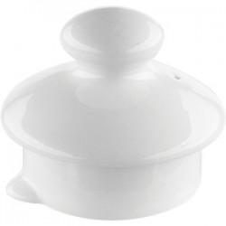 Крышка д/чайника 0179, 0180 «Симплисити Вайт»; фарфор; белый