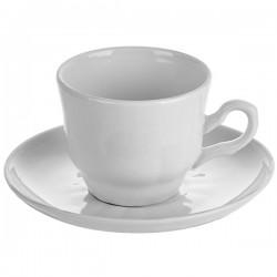 Пара кофейная «Романс»; фарфор; 100мл; белый