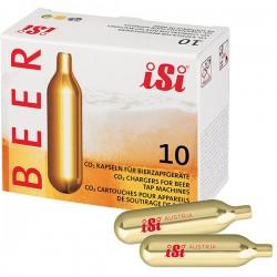 Баллончики C02 для пивной установки[10шт]; алюмин.; H=90, L=111, B=45мм; золотой