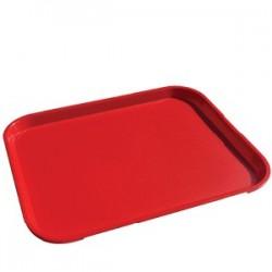Поднос для Фаст Фуд; пластик; H=2, L=42, B=32см; красный