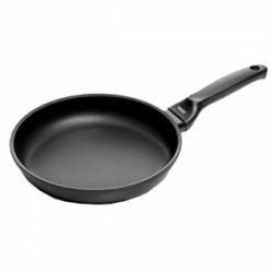 Сковорода (индукция); литой алюминий, тефлон; D=200, H=45, L=400мм; черный