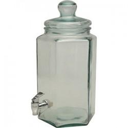 Банка-емкость с краном; стекло; 6л; H=40см; прозр.