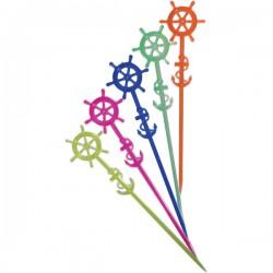 Мешалка «Наутилус»[100шт]; полистирол; L=17, 5см; разноцветн.