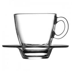Пара кофейная «Аква»; стекло; 70мл; D=97/58, H=59мм;