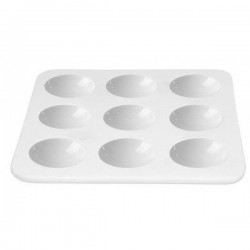 Блюдо д/дегустаций «Апиари»; фарфор; L=10, 5, B=10, 5см; белый