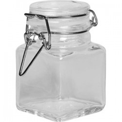 Банка для сыпучих продуктов , стекло; силикон, металл; 100мл; прозр.