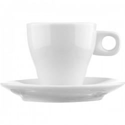 Пара кофейная «Паола»; фарфор; 90мл; белый