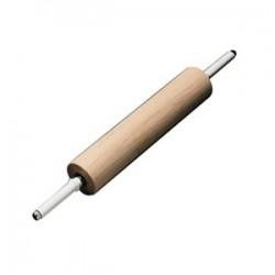 Скалка; бук; D=8, L=65/35см; древесн., белый