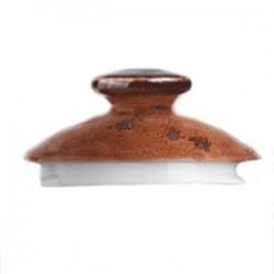 Крышка д/чайника «Крафт»; фарфор; терракот