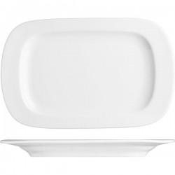 Блюдо прямоугольное «Прага»; фарфор; H=25, L=280, B=180мм; белый