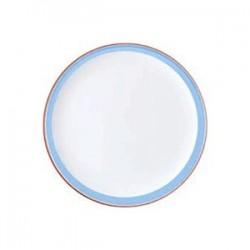Блюдо д/пиццы «Рио Блю»; фарфор; D=310, H=15мм; белый, синий