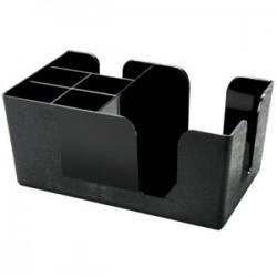 Подставка для салфеток барная; абс-пластик; H=10, L=24, B=14, 5см; черный