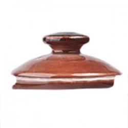Крышка д/чайника «Террамеса мокка»; фарфор; D=85мм; тем.корич.