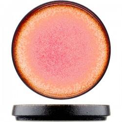 Тарелка «Агат»; фарфор; D=10, 4см; красный