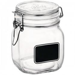 Банка для сыпучих продуктов «Лавана»; стекло; 0, 9л; D=10, 6, H=13, 6см; прозр., черный