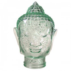 Декор д/стола «Будда»; стекло; H=30см; прозр.