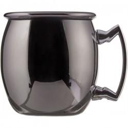 Кружка шот «Московский мул»; сталь нерж., никель; 60мл; D=43, H=47, L=55мм; черный