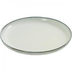 Блюдо «Аква»; керамика; D=37, H=3см; св.зелен.