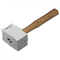 Молоток для отбивания мяса; алюмин., бук; H=11, 5, L=32см; , бежев.