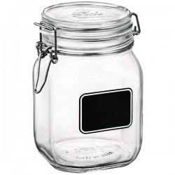 Банка для сыпучих продуктов «Лавана»; стекло; 1, 125л; D=10, 6, H=16см; прозр., черный