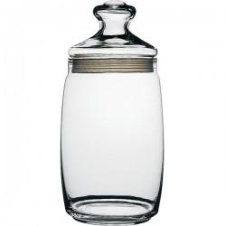 Банка с крышкой «Чешни»; стекло, резина; 1, 1л; D=94, H=163мм; прозр.