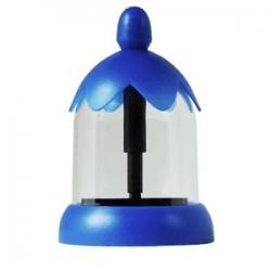 Декоратор для капучино (4насадки); сталь; 300мл; D=8, H=13см; синий