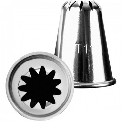 Насадка конд. «11-конечная звезда»; нержавеющая сталь, D=35/20, H=40мм;