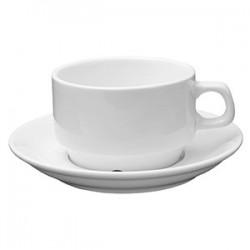 Пара чайная «Кунстверк»; фарфор; 200мл; D=8, H=6, B=15см; белый