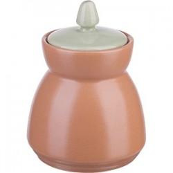 Сахарница «Аризона-верде»; керамика; 280мл; D=9, H=13см; коричнев., зелен.