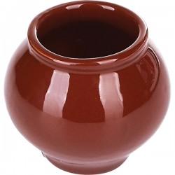 Горшок для запекания «Премиум»; керамика; 100мл; коричнев.