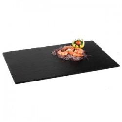 Блюдо сланцевое H=12, L=530, B=325мм; черный