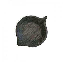 Блюдо «Ольха» темный дуб; H=30, L=185, B=130мм