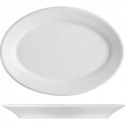 Блюдо овальное «Прага»; фарфор; H=25, L=240, B=170мм; белый