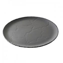 Блюдо д/пиццы «Базальт»; керамика; D=285, H=20мм; черный, матовый