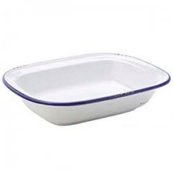 Блюдо д/запекания «Эйвбери блю»; керамика; L=24см; белый, синий