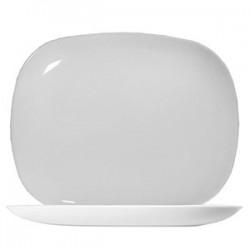 Блюдо «Эволюшнс Солюшн»; стекло; L=28, B=23см; белый